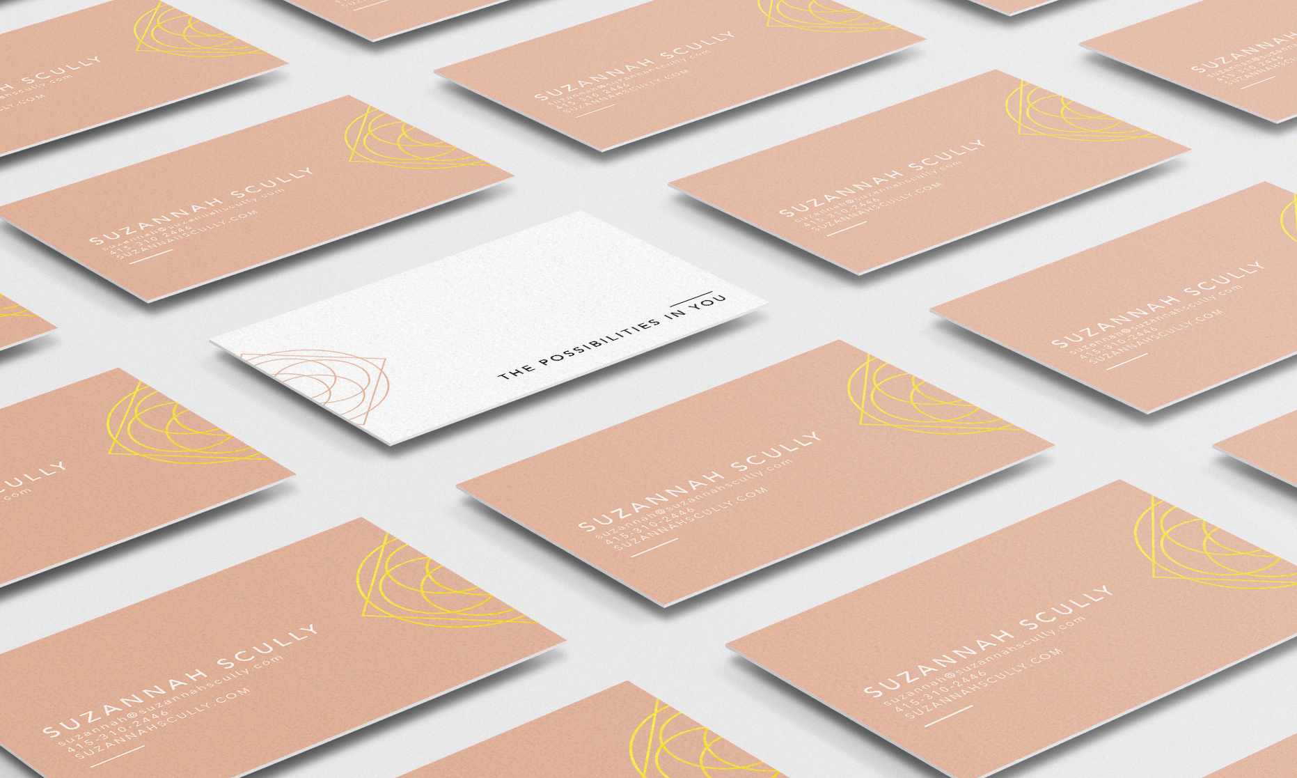 Speaker Brand Identity Design Business Cards