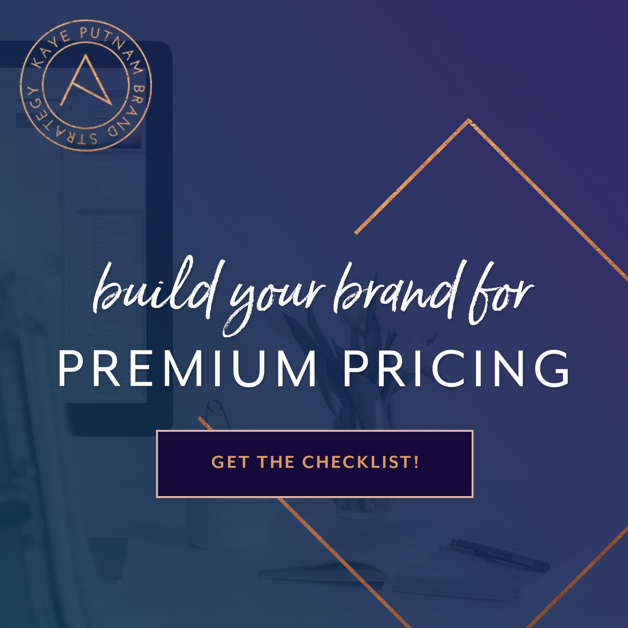 Premium Pricing: Build Your Brand For Premium Pricing