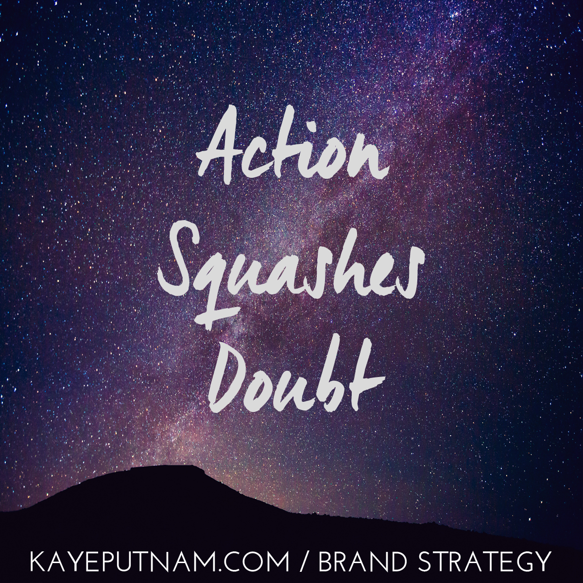 Action squashes doubt. #InDemandBrand