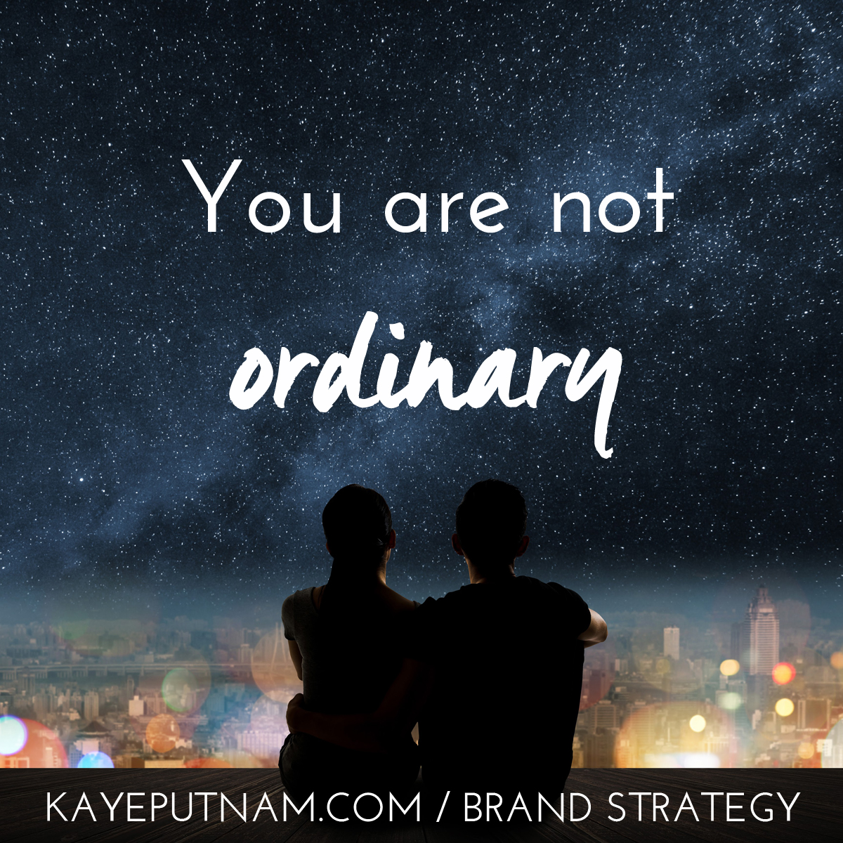 You are not ordinary. #InDemandBrand