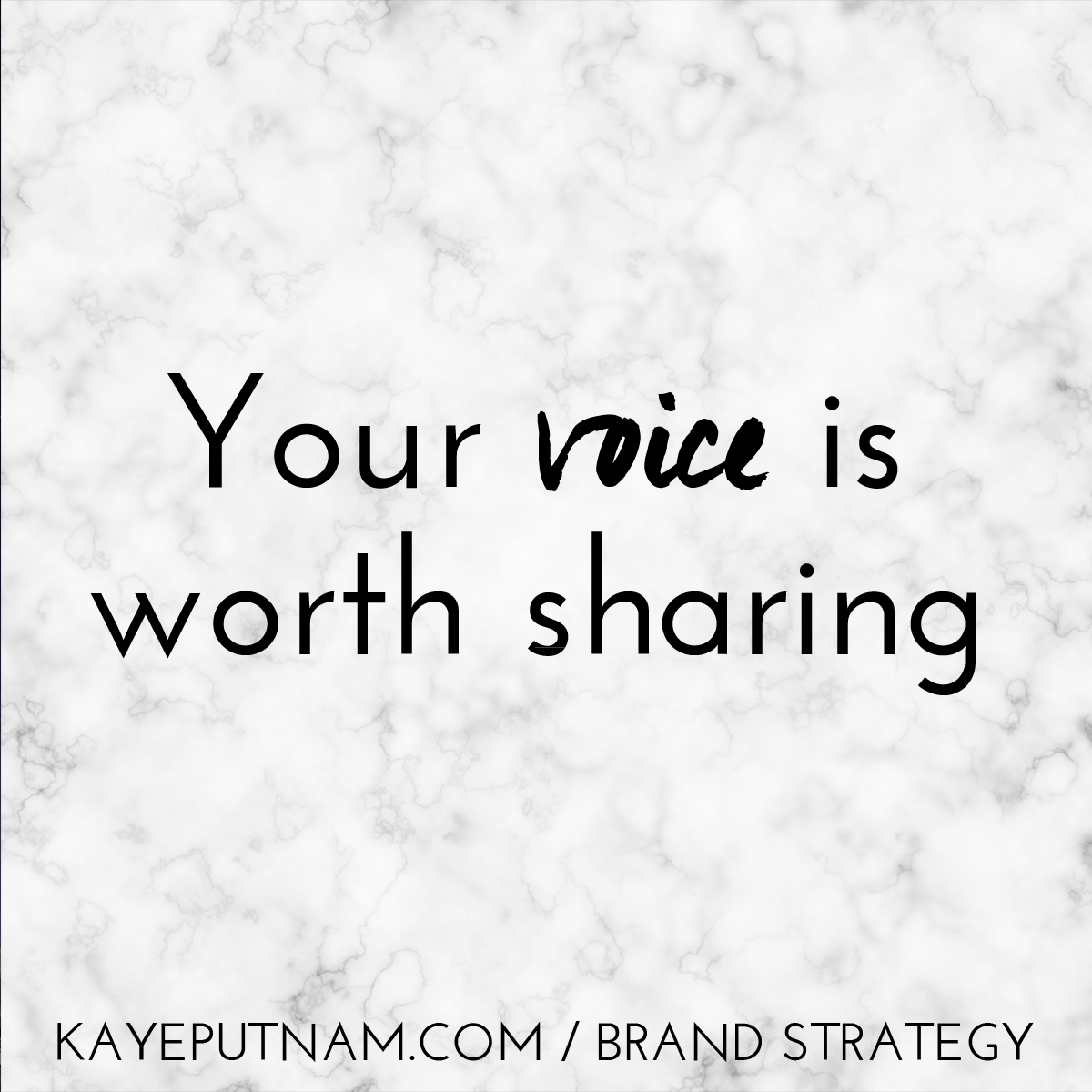 Your voice is worth sharing. #InDemandBrand