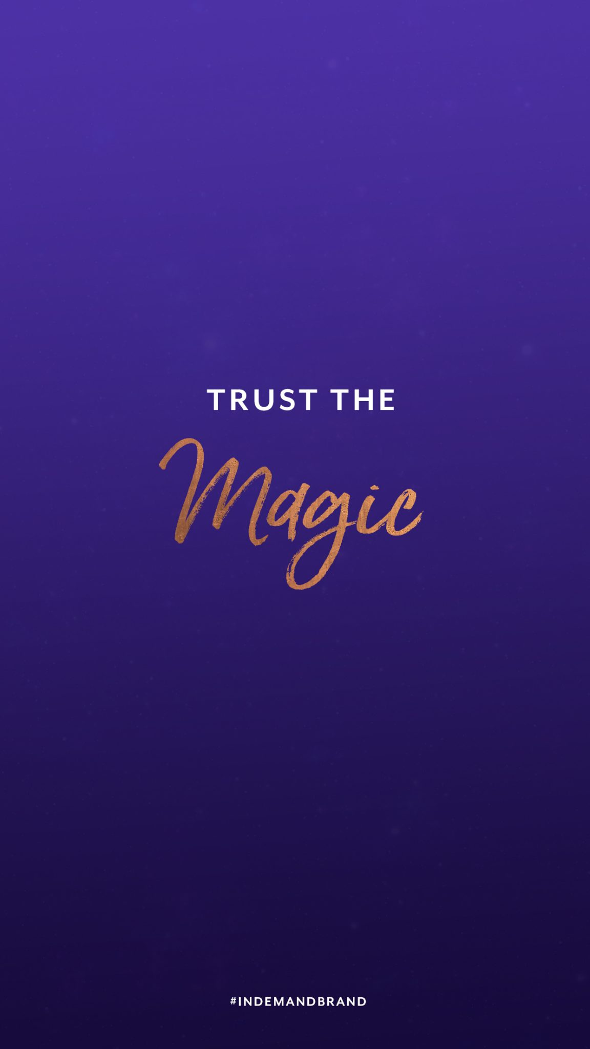 Trust the magic. #InDemandBrand